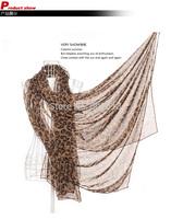New Style Fashion Long Leopard Shawl Scarf Wrap Lady Chiffon Scarves 200cm*150cm