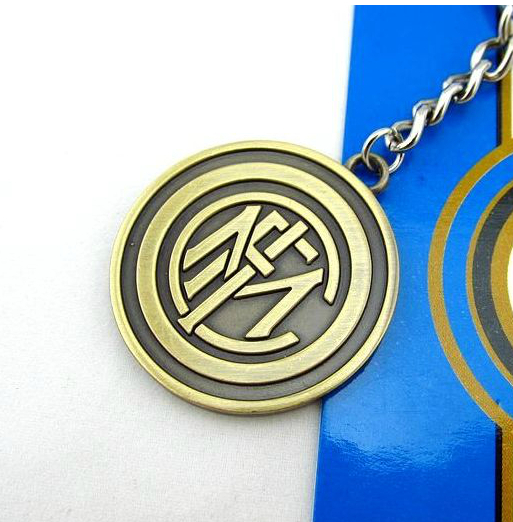 New Fashion Bronze Inter Milan Keychain Soccer Club Team Metal Key Holder Inter Milan Badge Key Ring Football Fans Souvenir(China (Mainland))