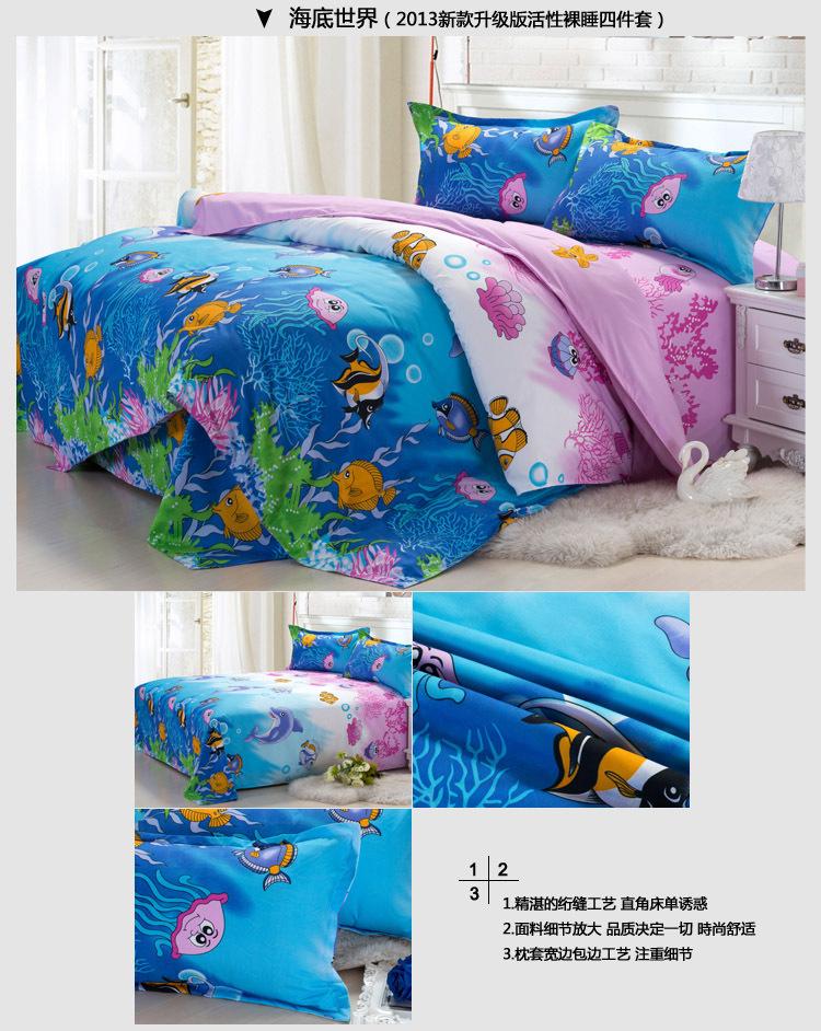Luxo natal jogo de cama rei / Full / Queen Size algodão 4 PCS adulto Quilt Cover / consolador Set / Bed Set grátis frete(China (Mainland))