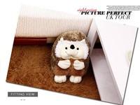 small cute plush hedgehog toy cartoon boy hedgehog doll gift toy about 22cm