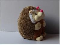 small plush girl hedgehog toy cute cartoon hedgehog doll birthday gift about 22cm