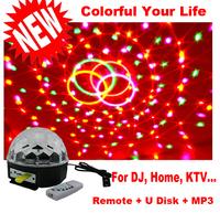 New Super Wonderful Disco Dj Stage LED RGB Crystal Magic Effect Dot Light Ball