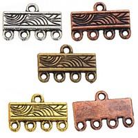 98pcs new diy fashion jewelry findings wholesales multi hole metal vintage bronze bracelets charms connectors 11*16mm