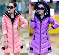 new winter thickened double caps long women's winter jacket female cotton womens winter jackets and coats L-3XL JBL5806YR