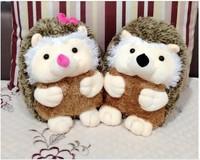 a pair of lovley plush hedgehog toys cute boy and girl cartoon hedgehog dolls gift toy about 28cm