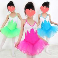 2014 New Ballet Dress For Children Professional Ballet Tutu Girls Bling bling Ballerina Dancewear Clothes