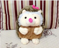 lovely pink bow hedgehog toy plush cartoon hedgehog doll girl hedgehog toy birthday gift about 40cm