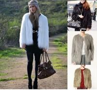 Haining fashion female imitation fox fur overcoat Zhongchang paragraph female special clearance
