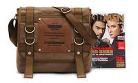 Brand KAUKOO Fashion Unique Vintage Designer Mens Casual Canvas Rivet  Messenger Shoulder Bag Travel Cross Body Bag Sacoche Men