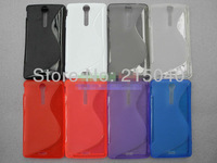 Free Shipping!! Best For Xperia TX Antiskid S Line Wave Soft TPU Gel Back Case Cover for Sony Xperia TX Lt29i, SON-024
