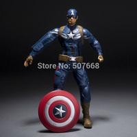 "4pcs/lot Captain America The Winter Soldier Shield Storm Captain America cool PVC Action Figure Collectible Model Toy 10"" 25CM"