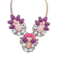 Canlyn Jewelry (2 Pieces/lot) Multi-Color Shourouk Statement Necklace necklaces & pendants for Women Wholesale CX200