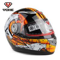 Eternal helmet YOHE - 927 glass fiber run a helmet Motorcycle full face helmet winter cheetahs