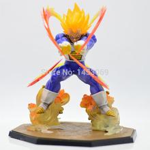 Retail Wholesale Anime Dragon Ball Z Super Saiyan Vegeta Battle State Final Flash PVC Action Figure Collectible Model Toy 15CM(China (Mainland))