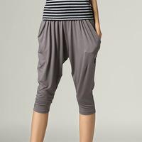 S- 5XL 2014 Spring Summer Ladies Fashion Plus Size XXXL Cotton Casual Elastic Slim Women Pants Capris Knee-length Slim Trousers