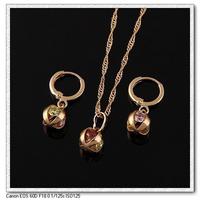Gold plated jewelry set Rhinestone Necklace/Earrings Set For Women wedding jewelry sets E-shine Jewelry