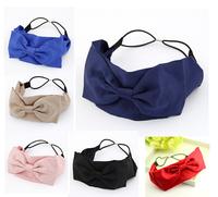 2014wholesale fashion ribbon big bow bow bohemian hairband headband colors assorted,12pcs/lot