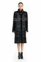 2014 Female Luxury Genuine Mink Fur Coat Jacket  Winter Women  Fur Outerwear Coats Lady Trench Overcoat QD70760