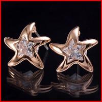 New Arrival Top AAA Swiss CZ Sea Star Starfish Earrings For Women Allergy Free - SKBTQ