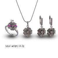 2014 Hot Sale Drop Earrings Rings Jewelry Sets fashion african costume jewelry set E-shine Jewelry