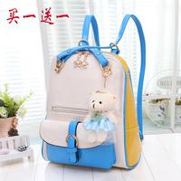 2014 new female bag lady shoulder tide tourism travel backpack style shoulder bag Korean college student bags