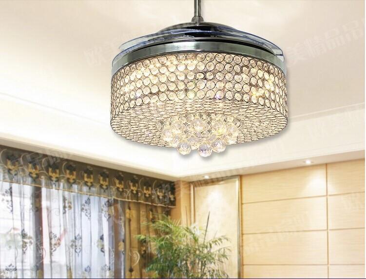 Popular Ceiling Fan Crystal Chandelier-Buy Cheap Ceiling ...