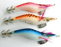 30pcs/lot 10cm 10.8g 2.5# (SJ008) fishing lure bait wood shrimp squid killer squid hooks cloth skin wooden glow shrimp lure