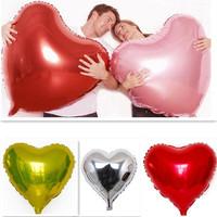 1pc/lot Super Big Heart Shape Inflatable Balloon Aluminum Foil Wedding Marriage Decoration Candy Festival 80*75cm CX870737