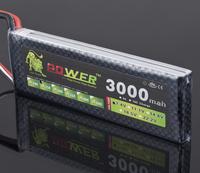 Lion Power Lipo Battery 7.4V 3000Mah 25C MAX 40C T Plug for RC Car Boat Airplane Battery+free shipping