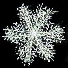 c18+ envío gratis 60pcs/lot navidad copo de nieve adornos colgantes para ventanas decoración 10 cm(China (Mainland))