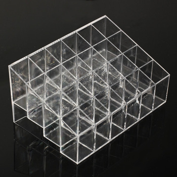 New Design Clear Trapezoid Lipstick Makeup Display Stand Holder Case Cosmetic Organizer Storage Box L3FE