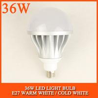 20PCS/lot 36W LED bulb lamp High brightness 5730SMD Cold white/warm white AC85-265V Free shipping