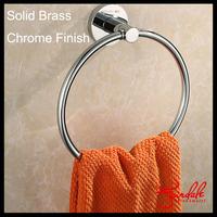 Free Shipping-1PC Modern Brass Round Wall-Mounted Bathroom Towel Holder Towel Rings Towel Racks Bathroom Accessories