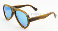Hot Sale Bamboo Wood  Sun Glasses Bamboo Stain Revo Polarized Sunglasses Unisex Fashion Style Eyewear Model Z6068