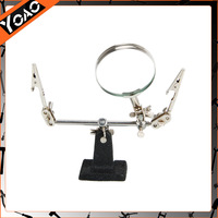 2014 Hot Sale New High Quality Material Soldering Iron Stand  Alligator Clip Tool Magnifier Black