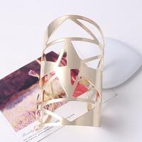 New Design Fashion Exaggerated punk Personalized geometric triangle metal cuff opening Bangles & bracelet jewelry women 2014 M16