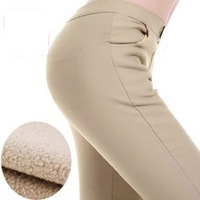 Promotion Winter Thick Faux Velvet Pencil Pants Warm Leggings Fashion Women's Legging Knitted Thick Slim Leggings DDK006