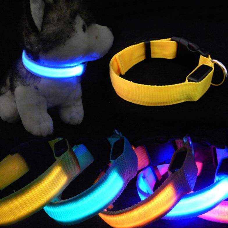 Hot Adjustable Pet Cat Dog Glow Night Flashing Safety Col