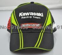 2014 Limited Edition Kawasaki Racing cap Embroidery Sports cap F1 racing car Motocard baseball cap Motorcycle cap Drop shipping