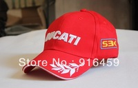 Free Shipping wholesale  2013 100% cotton  baseball RED DUCATI GRAIN caps F1 racing CAR  motorycycle sun cap hat