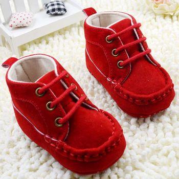 Девочка весна и осень теплый красный хлопок туфли, 100% обеспечение качества бесплатная ...