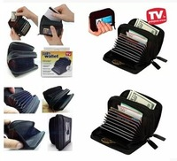 free shipping/ Palm sized wallet,leather wallet,card wallet black color,fashion