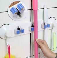 Kitchen Mop Broom Holder Wall Mounted Organizer Brush Storage Hanger Rack Tool   95677