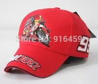 Marc 93 F1 racing cap Motor Gp Motocross Locomotive Motorcycle driver cap snapback hat cycling baseball cap Red Drop shipping