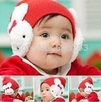 2014 new  fashion baby hat Baby Toddler Kids Boys Girl Winter Ear Flap Warm Hat Beanie Cap Crochet Rabbit HT04