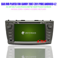 8'' Car Dvd Gps Navigation 3G Wifi Touch Screen For Camry 2007-2011 Pure Android 4.2 Player Bluetooth Phonebook Built-in wifi