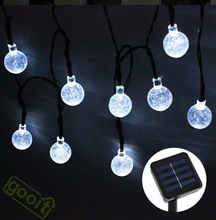 20Leds 4.8M Christmas Snow Ball Fairy Led Solar Powered light Outdoor Garden String Lights new year holiday party wedding lamps(China (Mainland))