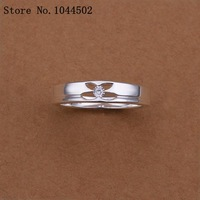 10pcs/lot R244 four points point 925 Silver plated new design finger ring for lady Sterling Silver women rings
