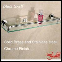 2014 New Modern Single Bathroom Shelf,solid Made Base+glass,dresser Shelf,bathroom Products,bathroom Accessories-9691