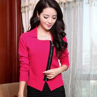 2014 Autumn Fashion Design Zipper Long Sleeve Knitwear Korean Cute Oversize Knitted Casual Cardigan Sweater Coat S- XXL